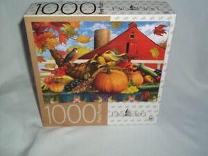 NEW 2017 Big Ben 1000 Piece 20 x 27 Cornucopia Fall Autumn Red Barn Puzzle