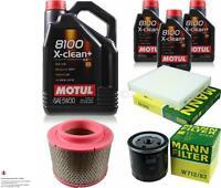 MOTUL 8 L 5W-30 MOTOR-ÖL+MANN-FILTER für Toyota Hilux III Pick-up KUN_ TGN_ LAN_