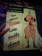 Ancienne Affiche des Journaux La Tribune l'Espoir la Dépèche le Petit Maconnais