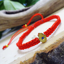 Gold Hamsa Pendant Red String Bracelet