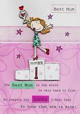 No. 1 Best Mum Hand-Finished Mother's Day Card Quality Greeting Cards