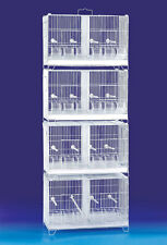 Ste of 4 Stackable Breeding Bird Cage for Canary Finch Small Birds