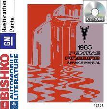 1985 Pontiac Firebird Shop Service Repair Manual CD Engine Drivetrain Electrical