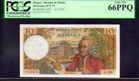 FRANCE P147d  10 FRANCS 1971-73 PCGS 66PPQ Bank of de France