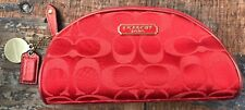Coach Red Limited Edition Estee Lauder 2010 Cosmetic Makeup Bag No E1073-B903