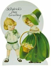 New ListingSt. Patrick's Day Greeting Vintage Decoration With Easel Home Decor