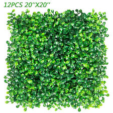 12PCs 20x20'' Artificial Grass Privacy Fence Panel Milan Wall Boxwood Hedge Mat