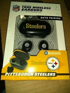 Pittsburgh Steelers Bluetooth WIRELESS EARBUDS+Charging Case(smart phones tablet