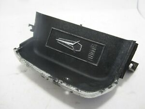 69-72 Plymouth Fury LH Dash Vent Black Plastic Cover Insert USED