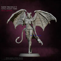 Unpainted 1/24 Scale Hell Queen Resin 75mmH GK Model Kit Unassembled Figure New