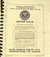 1966 SEARS/ PUCH Motocicleta Setting Up & MANTENIMIENTO Modelo
