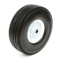 10 Inch PU Tyre Metal Wheel 4.10/3.50-4 Solid Puncture Proof 16mm Bore Lawnmower