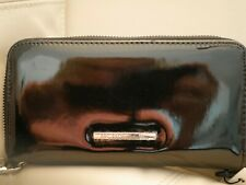 NEW WT BOX WOMEN'S BCBGENERATION ZIP AROUND BLACK PATENT LEATHER WALLET ALLISON