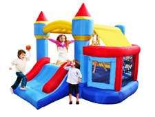 Party Castle Inflatable Bouncer w Ball Pit Bounce House and Roof with Blower