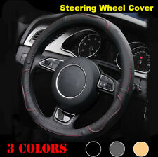 "38cm/15"" Car Steering Wheel Cover Leather for Volkswagen VW Golf 7 GTi Mk7 Golf7"