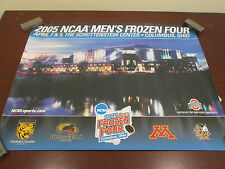 NCAA-2005 MEN'S FROZEN FOUR IN COLUMBUS,OHIO- 4 WCHA TEAMS LOGO POSTER 17X22