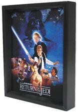 STAR WARS R1-RETURN JEDI ONE SHEET8x10 3D SHADOWBOX JEDI DECOR FILM SPACE GALAXY