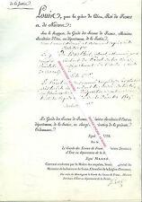 Ordonnance signée de François Pierre Guillaume GUIZOT historien homme politique