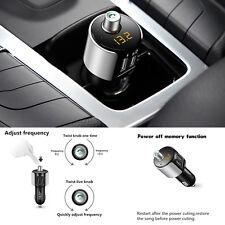 Auto Bluetooth Kit FM Transmitter Handsfree Wireless Radio Adapter USB Charging