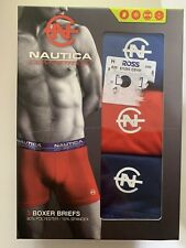Men's Boxer Briefs Nautica Competition 3-Pack Pairs Mesh SMALL 28-30