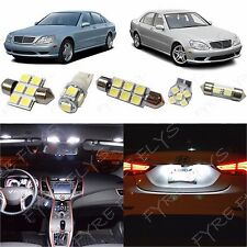 19x White LED lights interior package kit for 1998-2006 Mercedes S-Class ZS1W