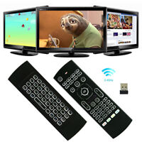 MX3 Backlit Air Mouse T3 Smart Voice Remote Control 2.4G RF Wireless Keyboard