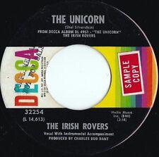 Irish Rovers ORIG US Promo 45 The unicorn EX '68 Decca 32254 Celtic folk
