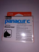 New listing Panacur C Canine Dewormer By Merck 3 Packets For 40lbs to 49lbs Dogs, Exp 04/22