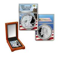 2020 W Silver Eagle ANACS PR70 First Day of Issue Limited Edition 3,196
