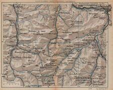 PYRÉNÉES. Eaux-Bonnes/Chaudes Cauterets Lourdes Argeles. Vintage map plan.  1907