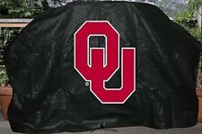 """UNIVERSITY OF OKLAHOMA SOONERS 68"""" Barbecue BBQ Heavy Vinyl Gas Grill Cover"""