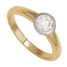 Ringe Echtschmuck aus Gelbgold mit Diamant