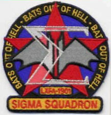 """B5   Babylon 5 Sigma Squadron Embroidered Patch - """"Bats Out of Hell"""""""