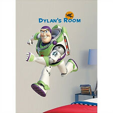 "BUZZ LIGHTYEAR wall stickers 109 decals 37"" MURAL PERSONALIZE Toy Story Disney"