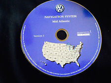 2004 VW VOLKSWAGEN TOUAREG NAVIGATION MAP DISC CD 8 Mid Atlantic VA PA MD DE NJ