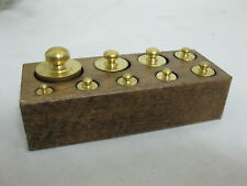 Gewichte Set in Holzbox  9 Messinggewichte
