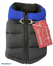 New listing Gooby Paddle Vest Size Xs Black Blue Dog Puffer Vest Water Resistant Nwt Warmth