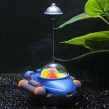 Action Aquarium Ornament Fish Tank Submarine Connect With Air Pump Fro Moving CN