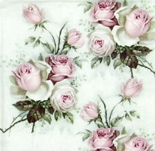 4x Vintage Rose Bouquet Di Carta Tovaglioli per Decoupage CRAFT