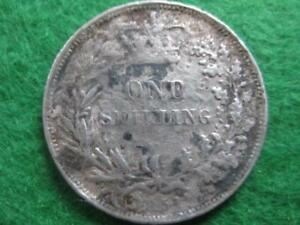 1861 one shilling coin ***  Q - VIC    worn and old  but have you got one ?