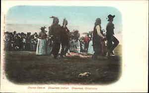Native Americana Shawnee OK Indians Dance c1905 Postcard