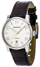 Montblanc Timewalker Automatic White Dial Brown Leather Men's Watch 110340 Watches Product Description
