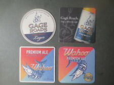 """3 Different SNOWY MOUNTAIN  Micro BREWERY, collectable COASTERS /""""NO MORE/"""""""