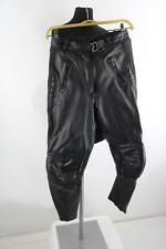 Schwarze Leder-Motorradhose Gr.42/M Top Zustand