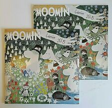 MOOMIN 2015 Art Wall Calendar - Matching Pair - Flame Tree Publishing Rare
