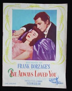 I'VE ALWAYS LOVED YOU 1946 Rare Australian souvenir movie programme piano