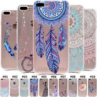 Clear Soft TPU Slim Silicone Back Case Cover For Apple iPhone SE 5S 6 6S 7 Plus