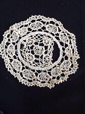 L Vintage Cream Crochet Lace Doily Antique Doilies Dressing Table Place Mat