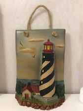 "New In Box St Augustine Lighthouse Wall Decor Plaque 10"" Resin Florida Nautical"