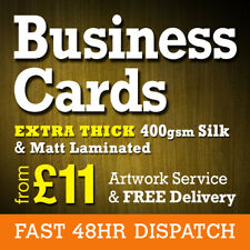 Business Card Printing - Thick 400gsm Laminated Business Cards
